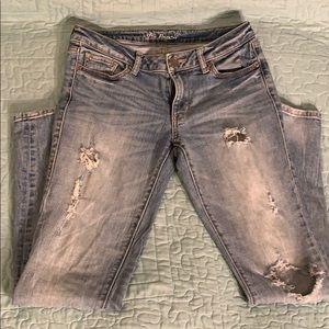 Victoria Secret VS Pencil Distressed Jeans